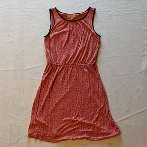 (2/$35 Deal) Salmon Pink w Black Pattern Sundress